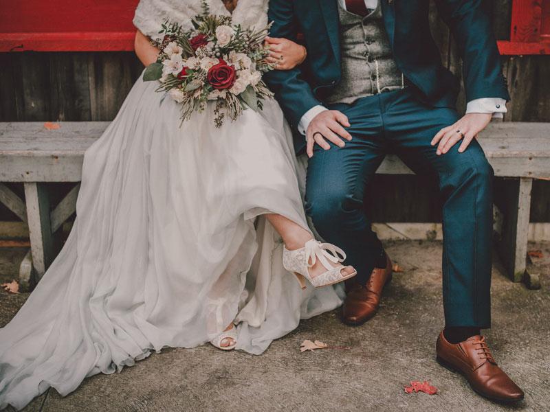 mariés à la cabane à sucre
