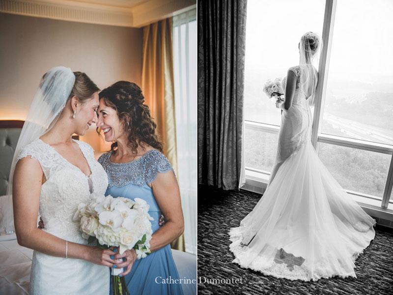 La mariée et sa mère au Hilton Lac-Leamy