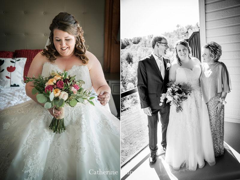 la mariée et ses parents