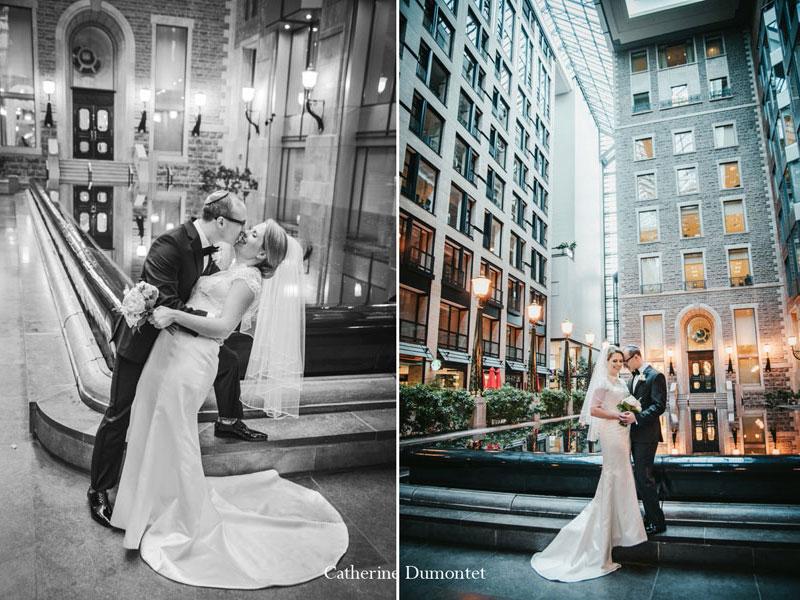 mari et femme au Centre de Commerce Mondial