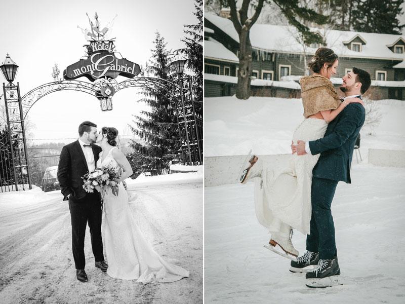 mariage en hiver au Mont-Gabriel