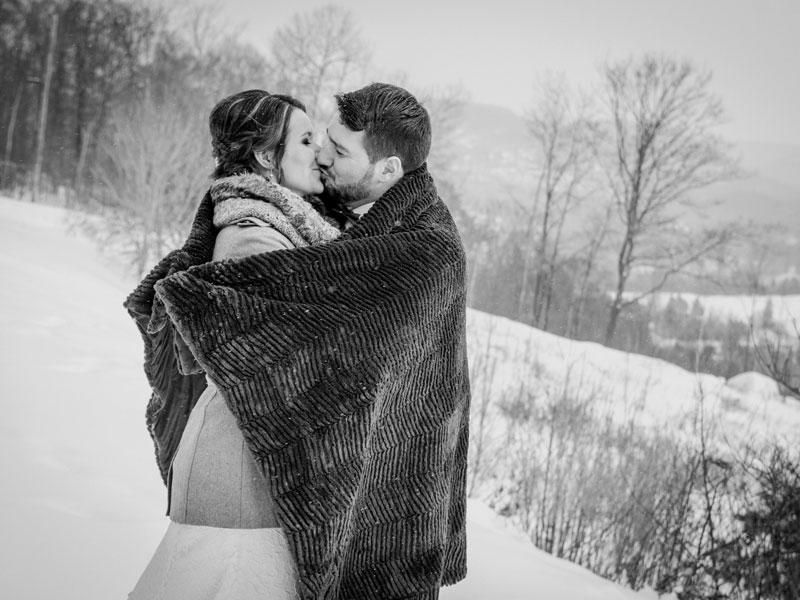 mariage d'hiver à l'Hôtel Mont-Gabriel