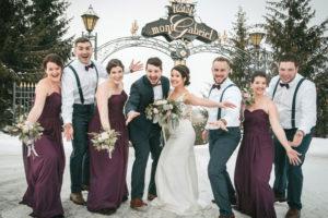 Mariage en hiver à l'Hôtel Mont-Gabriel