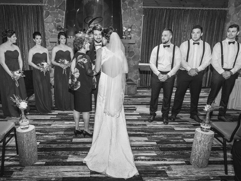 cérémonie intérieure à l'hôtel du Mont-Gabriel