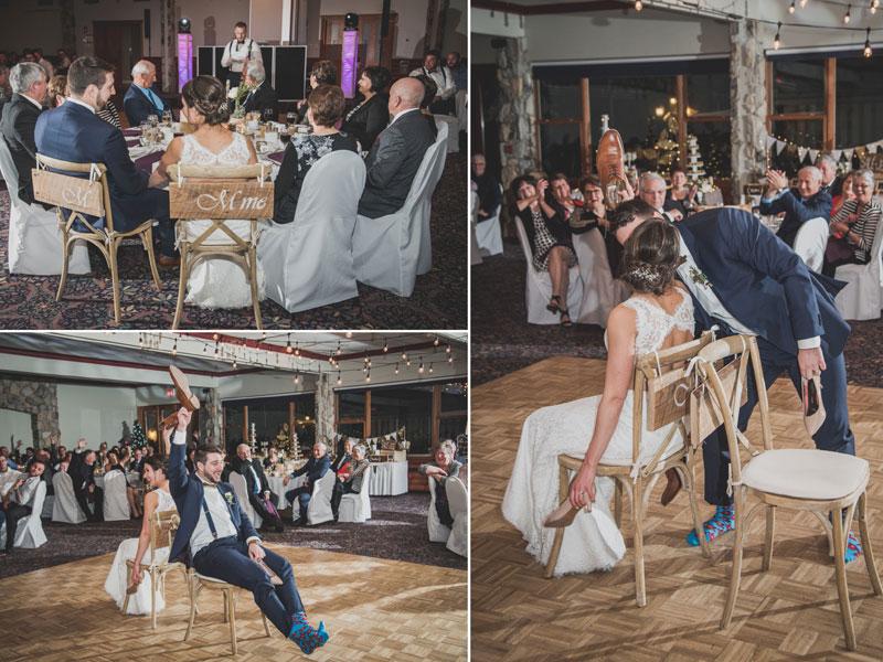 Le jeu des souliers pendant la réception
