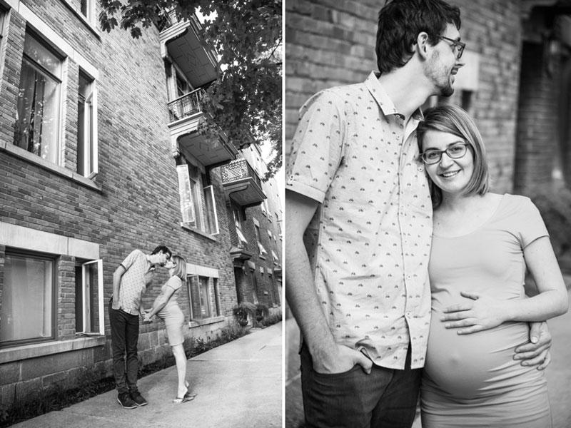 Des futurs parents à Montréal