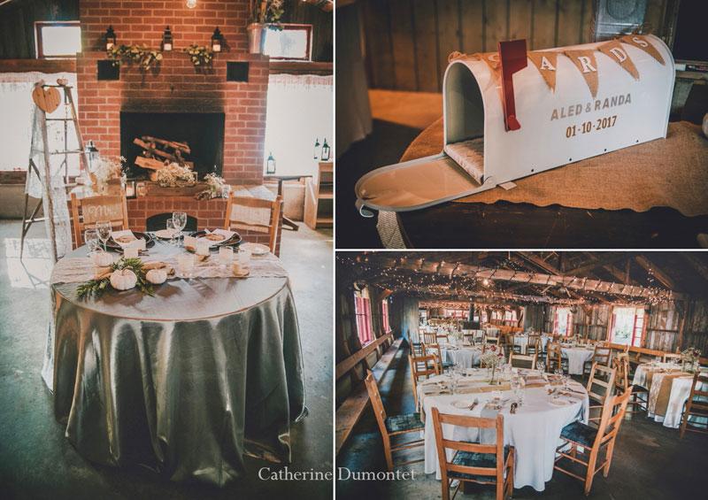 décorations mariage à la Cabane à Sucre Handfield