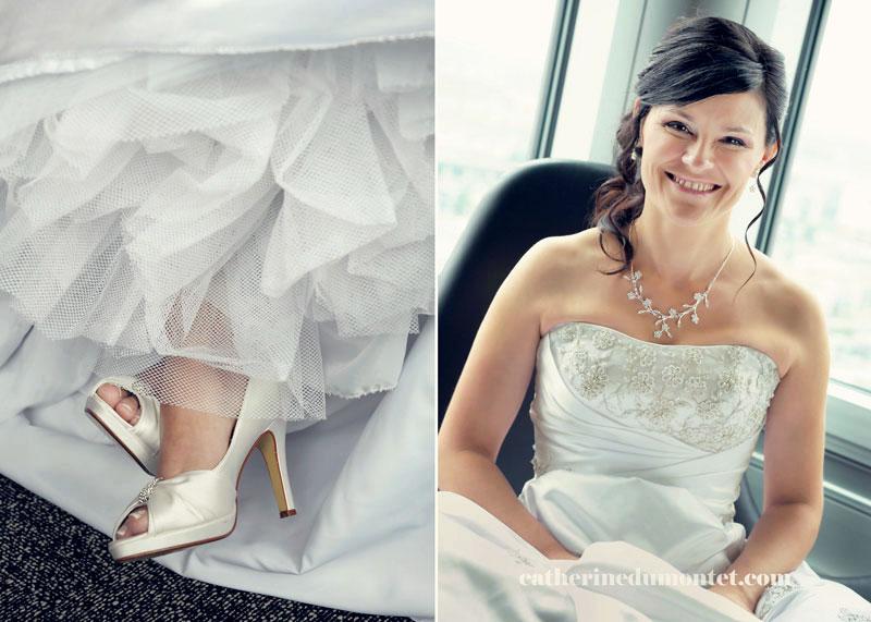 préparation de la mariée à l'hôtel