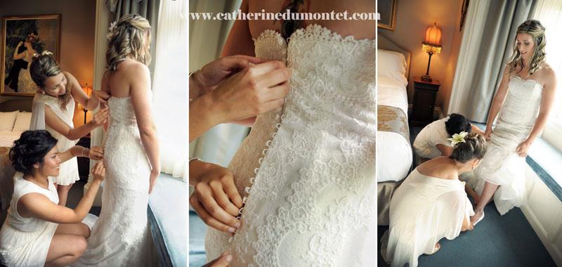 Habillement de la mariée pour le grand jour