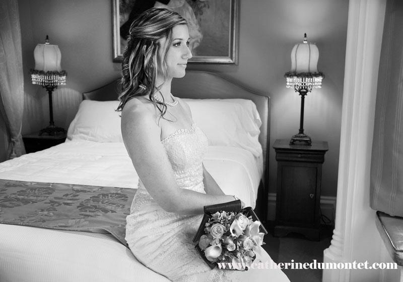 Portrait de la mariée avant la cérémonie