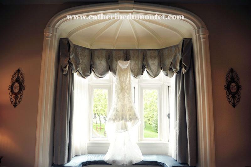 la robe de la mariée dans la suite du Manoir