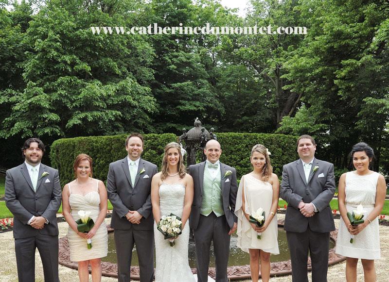 Le cortège et les mariés au Manoir Rouville-Campbell