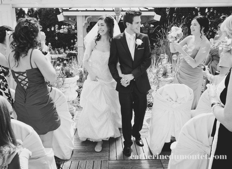 Les mariés lors de la cérémonie de mariage
