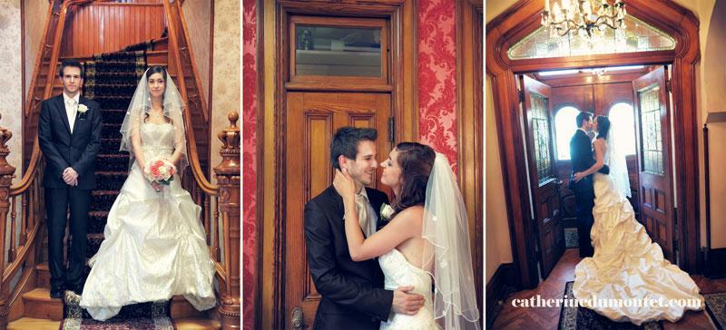 les nouveaux mariés à l'intérieur du Château St-Antoine