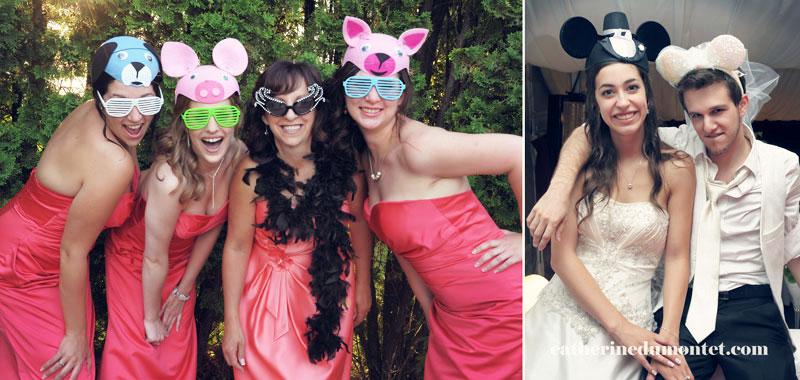 Photobooth avec les mariés en soirée
