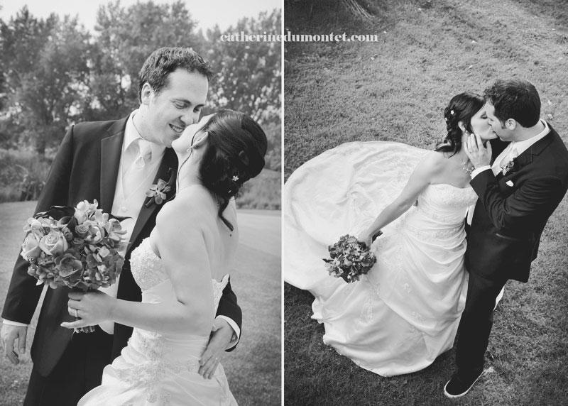 photos des mariés en noir et blanc