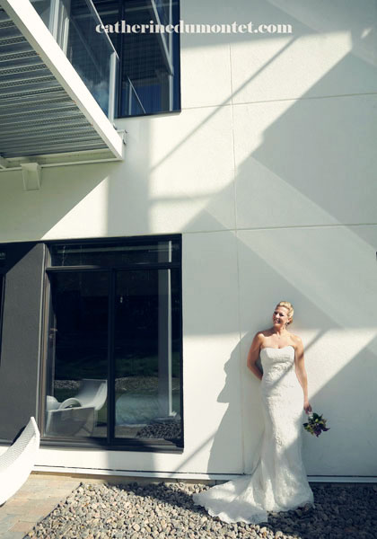 Portrait de la mariée à l'Esterel Resort
