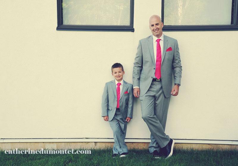 Portrait du marié et son fils à l'Esterel Resort