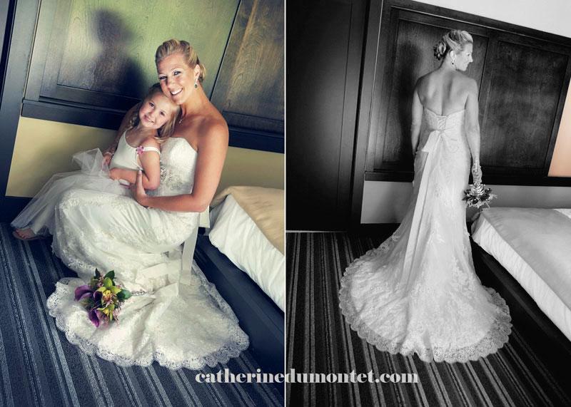 Portraits de la mariée avec sa fille