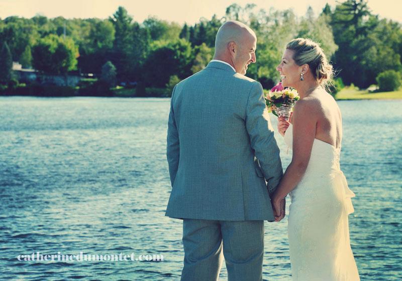 Les mariés à l'Esterel Resort à l'Esterel