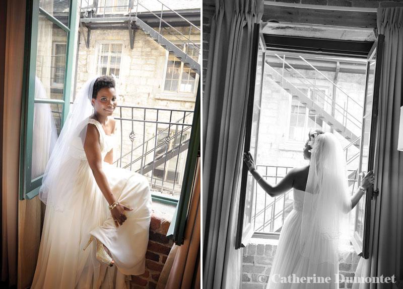 la mariée à l'Hôtel Nelligan