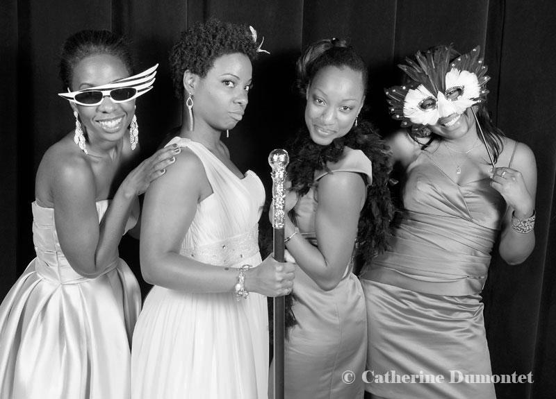 photobooth avec la mariée et demoiselles d'honneur