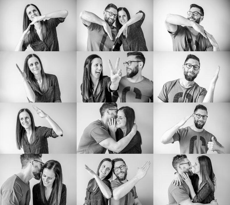 montage photos pour invitation mariage