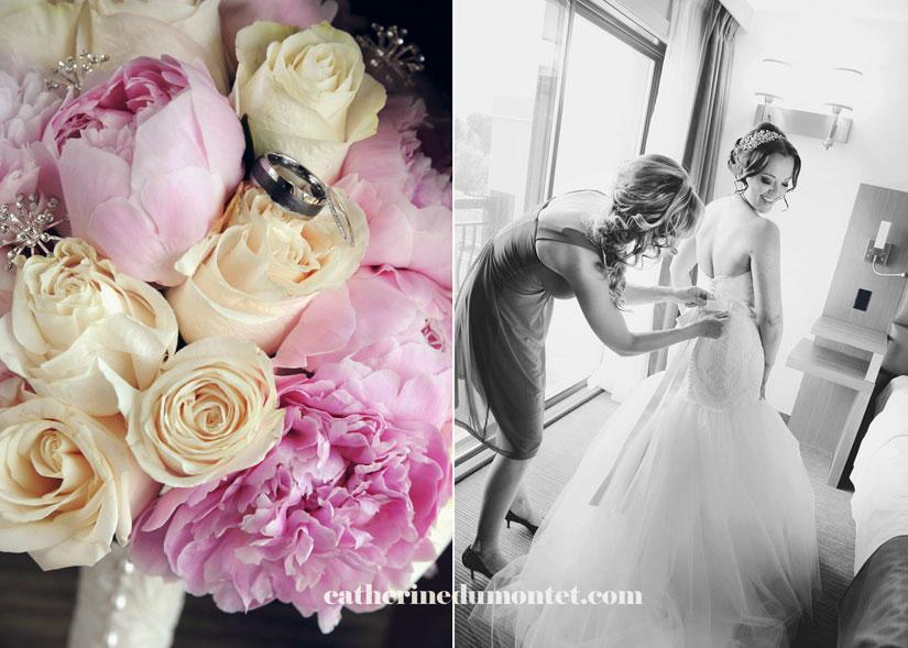 préparation de la mariée à l'Hôtel Rive Gauche