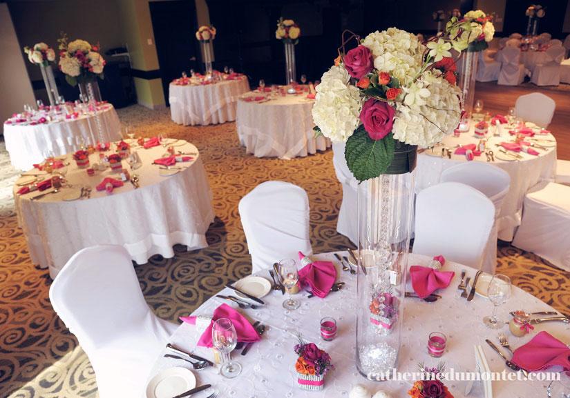 décorations mariage à l'Hôtel Rive Gauche