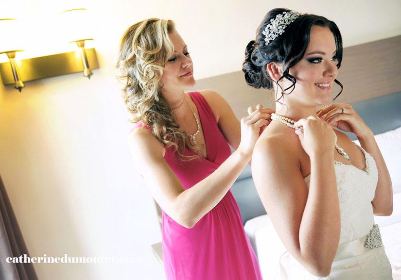 préparation mariage à l'Hôtel Rive Gauche