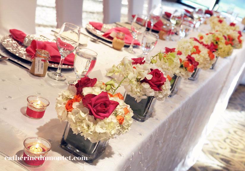 table d'honneur à l'Hôtel Rive Gauche de Beloeil
