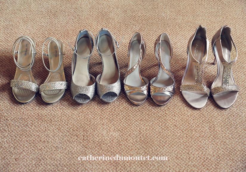 souliers des demoiselles d'honneur