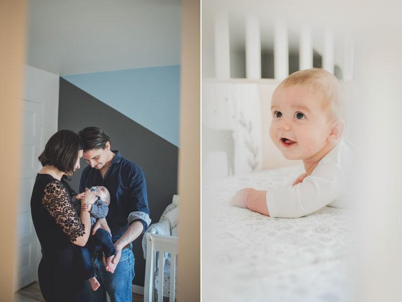 des parents avec leur bébé de 3 mois