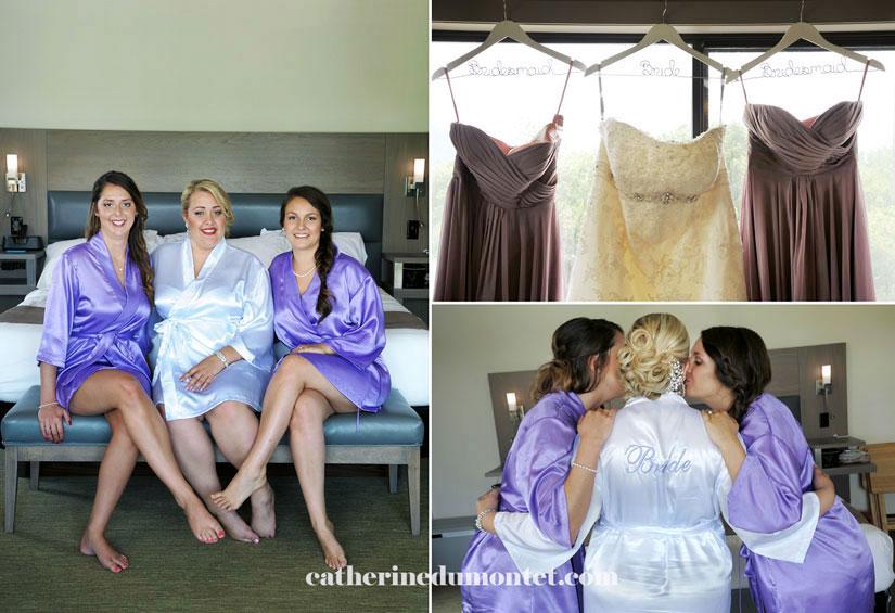 les demoiselles d'honneur avec la mariée