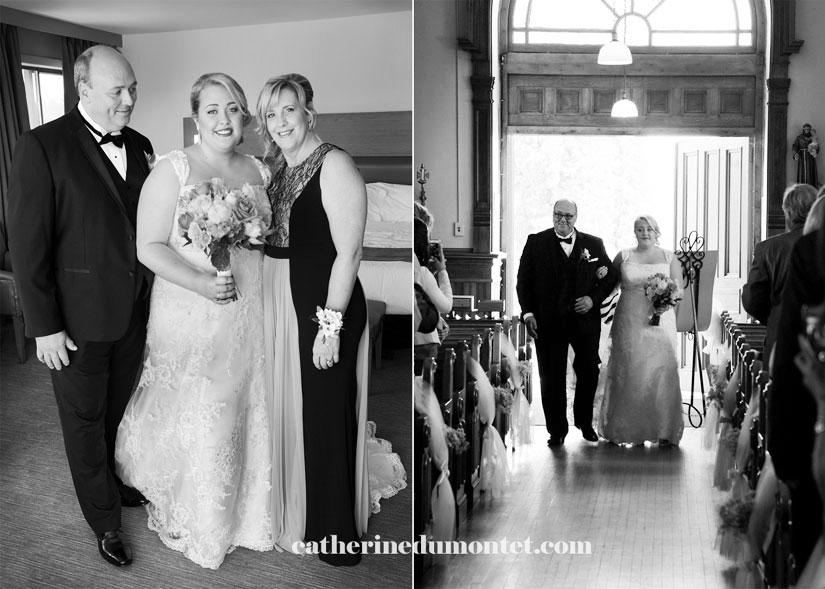 la mariée et son père à l'église