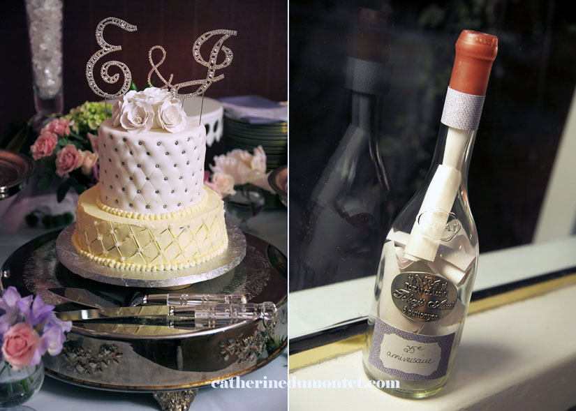 photos souvenir et gâteau de mariage