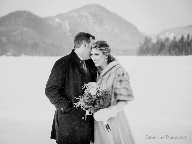 mariage en hiver à Tremblant au Elysium Lac-Supérieur