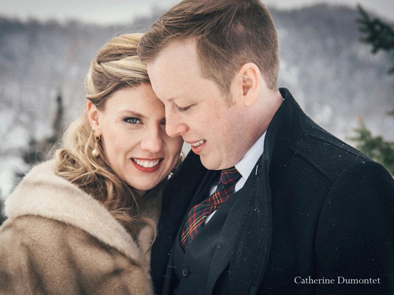 mariage d'hiver dans les Laurentides au Elysium