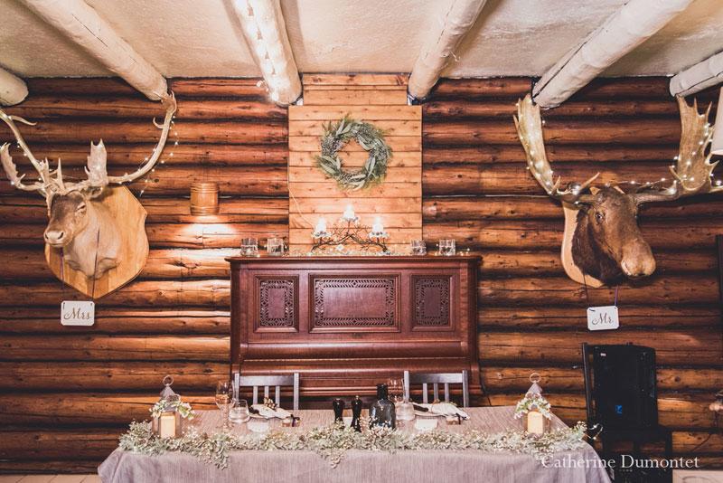 réception mariage en hiver au Restaurant Le Rustique