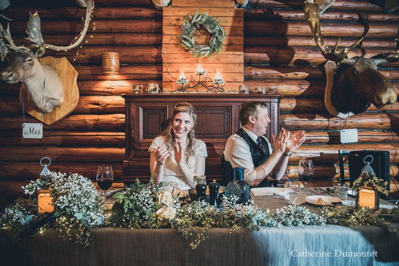 réception mariage d'hiver au Resto Bar Le Rustique