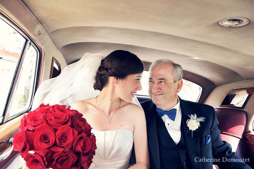 la mariée avec son père