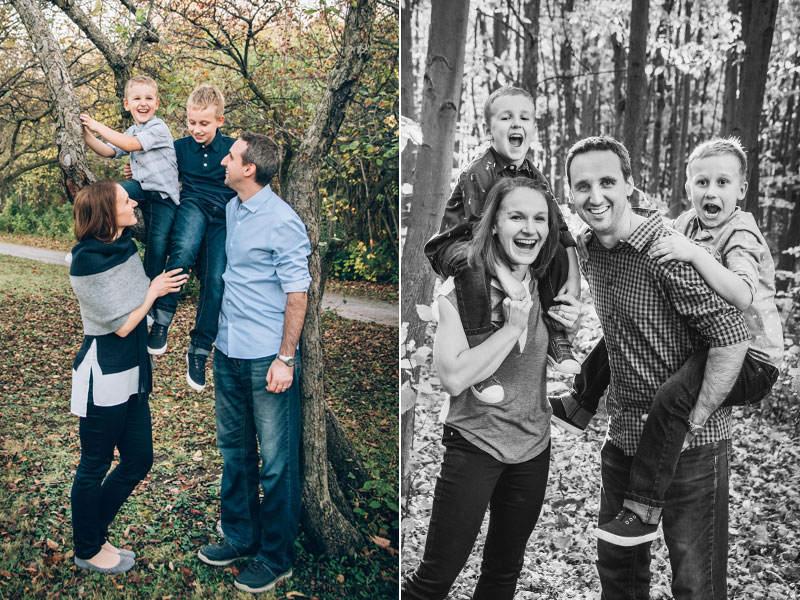 session photo de famille dans les bois