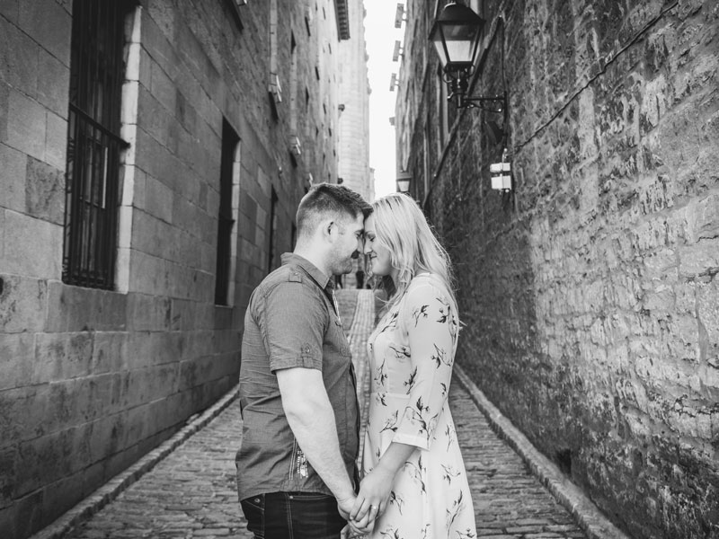 Engagement session in the old port