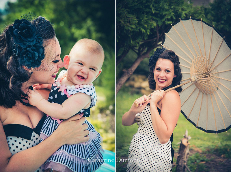 la mariée avec sa fille