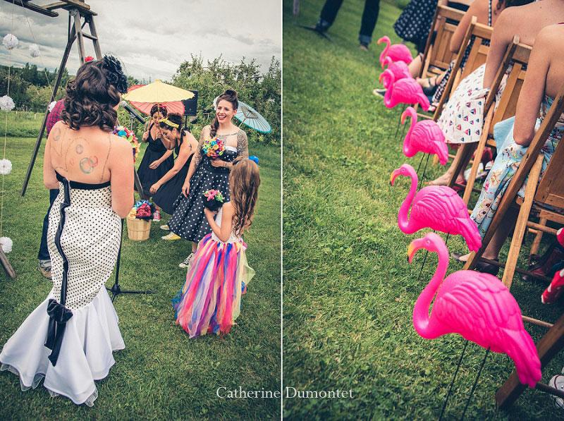 cérémonie de mariage dans les vergers du Jude-Pomme
