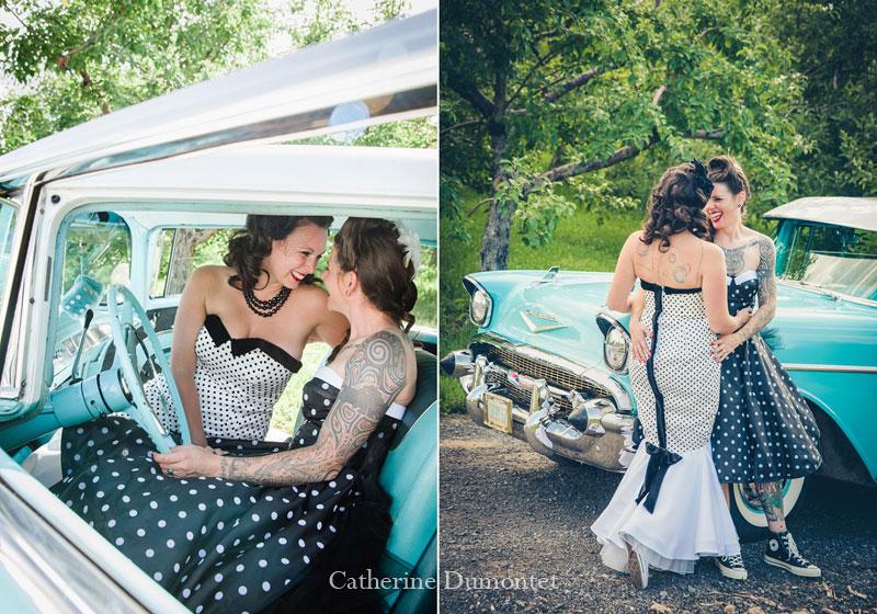 mariage coup de coeur avec auto ancienne