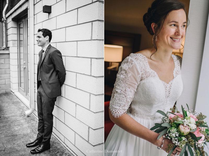 Portraits des mariés au Manoir