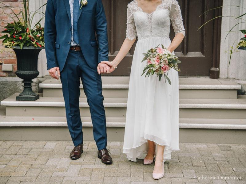 les mariés en-avant du Manoir Rouville-Campbell