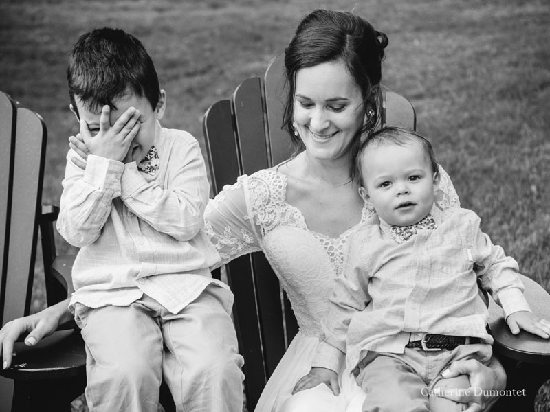 la mariée et ses enfants