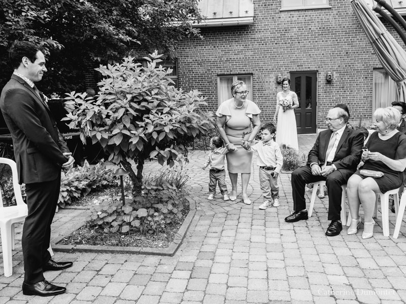 cérémonie de mariage sur la terrasse